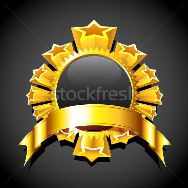 Star metin uzay örnek altın etrafında Stok fotoğraf © vectomart