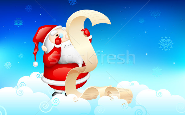 Santa Claus reading wish list Stock photo © vectomart