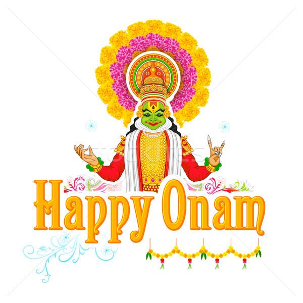 Kathakali dancer face for Onam celebration Stock photo © vectomart