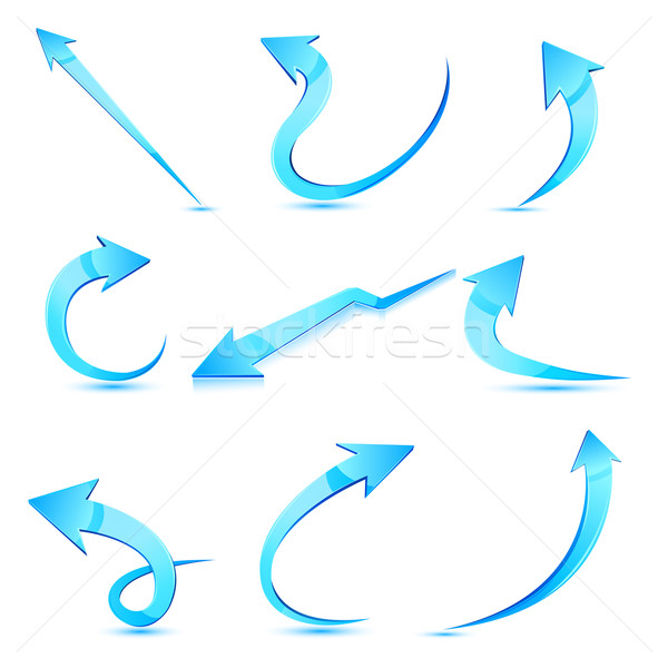 Set arrow Illustration Pfeile isoliert abstrakten Stock foto © vectomart