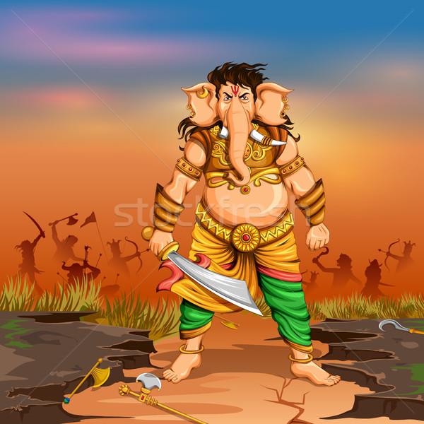Lord Ganapati background for Ganesh Chaturthi Stock photo © vectomart