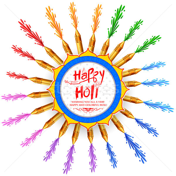 Abstract Happy Holi Background  for Festival of Colors celebration greetings Stock photo © vectomart