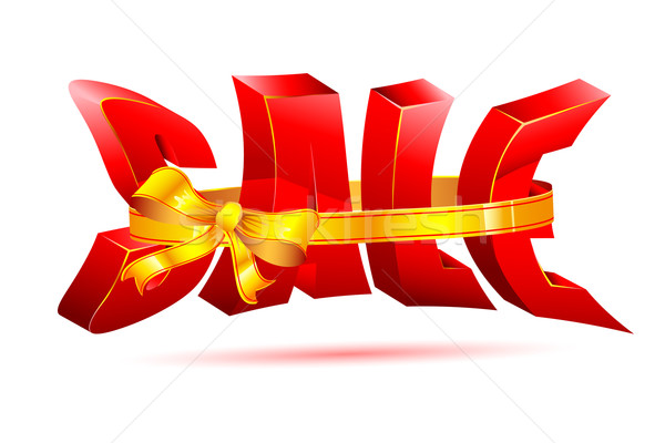 Sale wrapped with Ribbon Stock photo © vectomart