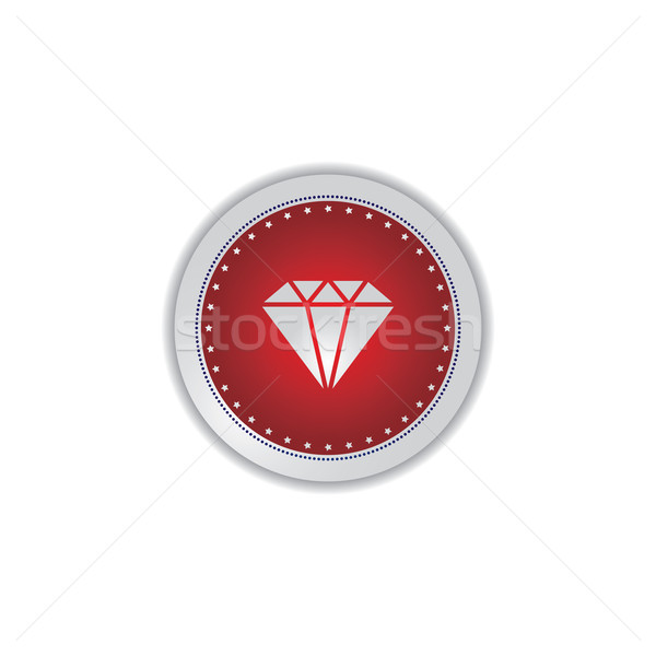 gemstone icon button Stock photo © vector1st