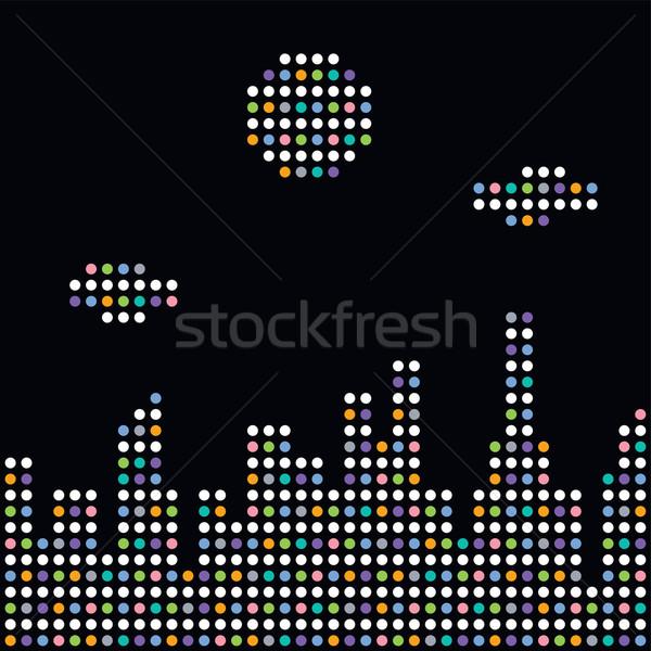 colorful dot theme art city Stock photo © vector1st