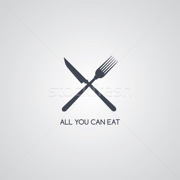Vork mes restaurant vector kunst Stockfoto © vector1st