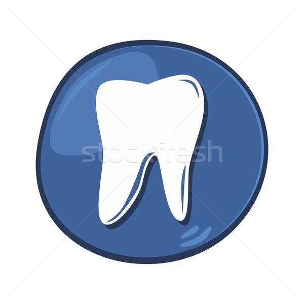 стоматологических икона вектора графических искусства Сток-фото © vector1st