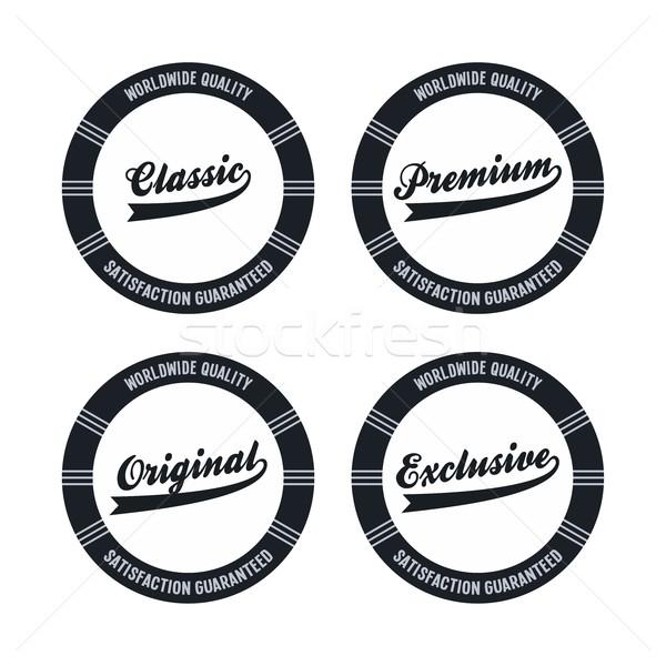Etiket etiket düzenlenebilir vektör grafik sanat Stok fotoğraf © vector1st
