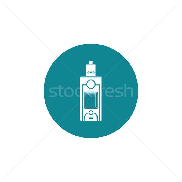 Személyes ikon felirat vektor művészet felhő Stock fotó © vector1st