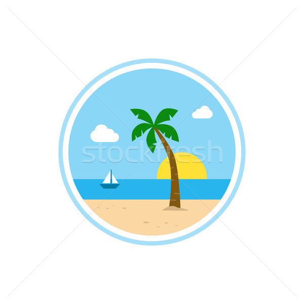 beach time tropical island summer vacation Stock photo © vector1st
