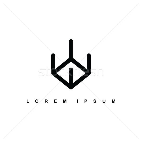 Line Kunst Zeichen logo Stock foto © vector1st