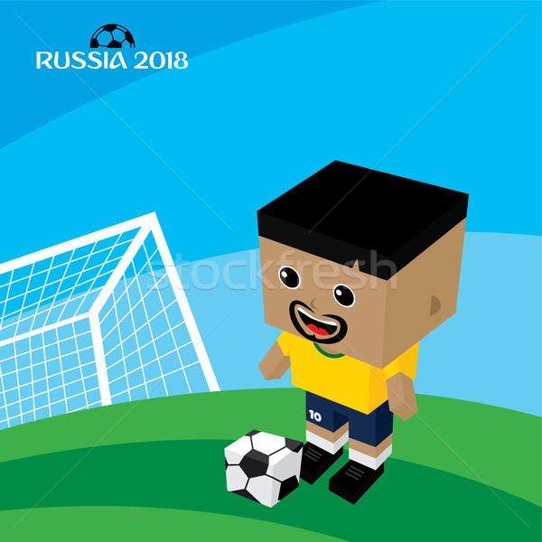 Groep team Rusland voetbaltoernooi vector kunst Stockfoto © vector1st