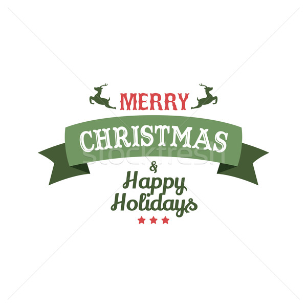 merry christmas label Stock photo © vector1st