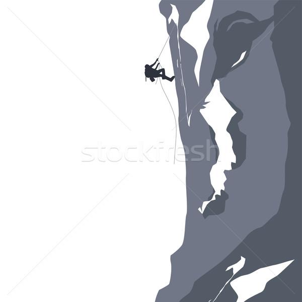 Uzun yürüyüşe çıkan kimse maceraperest vektör sanat örnek Stok fotoğraf © vector1st