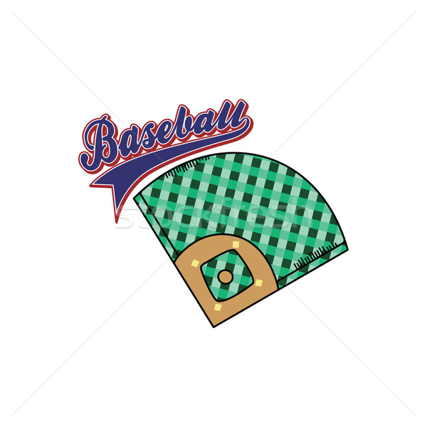 baseball league sport theme Stock photo © vector1st