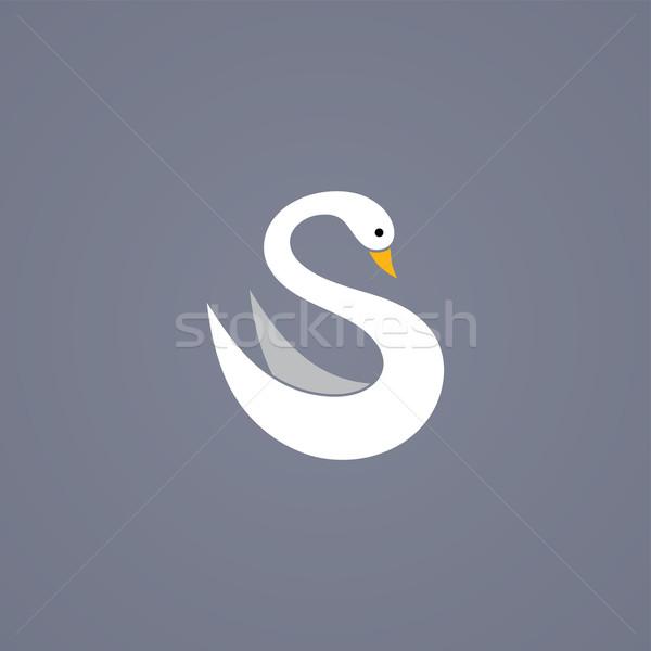 Kuğu çok güzel vektör sanat örnek Stok fotoğraf © vector1st