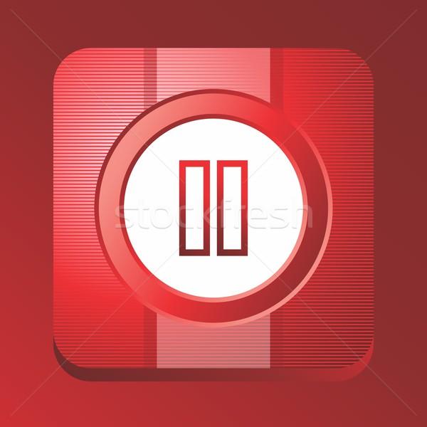 メディア ボタン ベクトル グラフィック 芸術 デザイン ストックフォト © vector1st