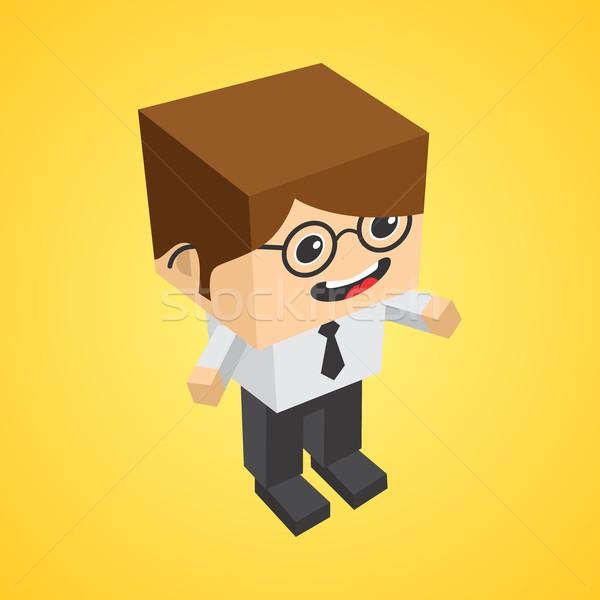block isometric cartoon character Stock photo © vector1st