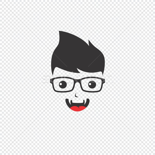 Geek avatar vector grafische kunst Stockfoto © vector1st
