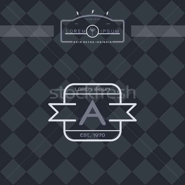 Modern bağbozumu etiket vektör sanat Stok fotoğraf © vector1st