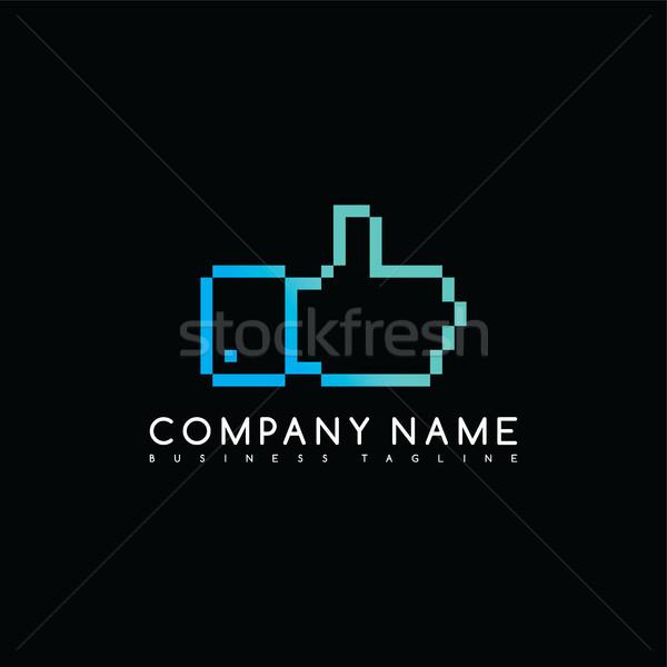 Başparmak yukarı marka şirket şablon logo Stok fotoğraf © vector1st
