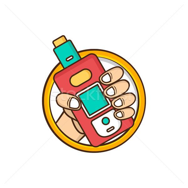 Elétrico cigarro vapor vida vetor fogo Foto stock © vector1st