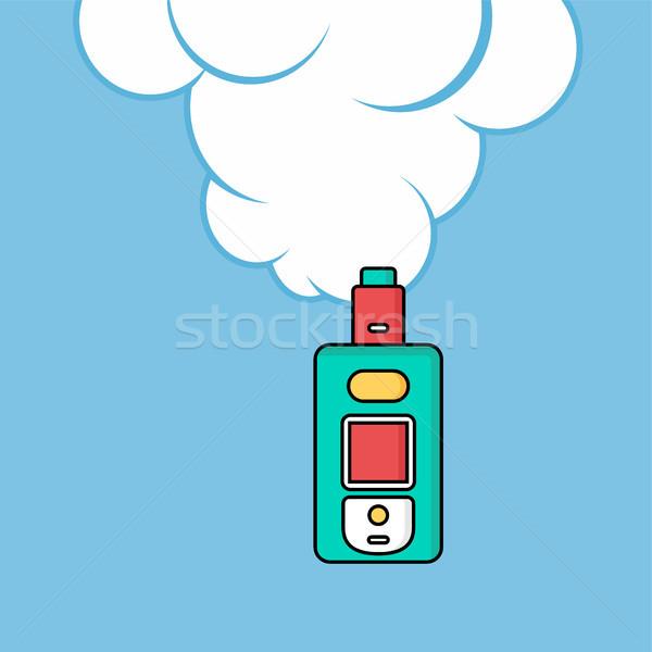 電気 たばこ 個人 雲 ベクトル 芸術 ストックフォト © vector1st