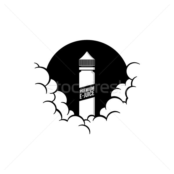 cloudy theme personal vaporizer vape e-cigarette Stock photo © vector1st