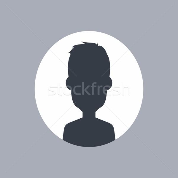 Ismeretlen férfi sziluett vektor művészet illusztráció Stock fotó © vector1st