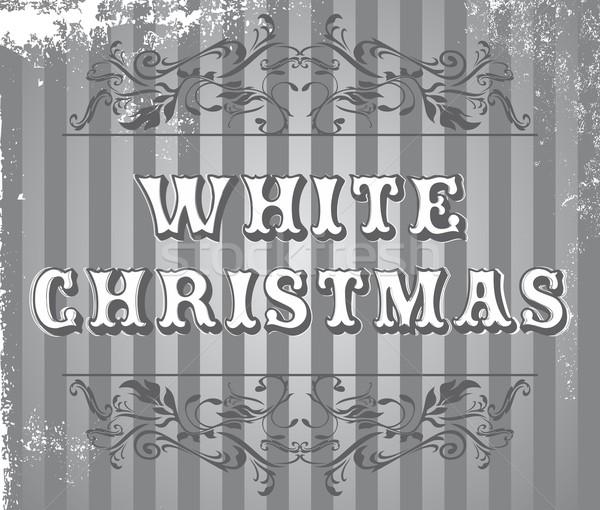 Stock fotó: Karácsony · szerkeszthető · vektor · grafikus · művészet · terv