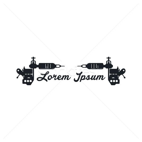 Tatuaje máquina arte vector ilustración diseno Foto stock © vector1st