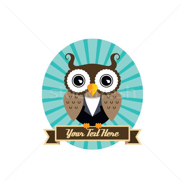 ストックフォト: フクロウ · 芸術 · クール · ベクトル · グラフィック · 実例
