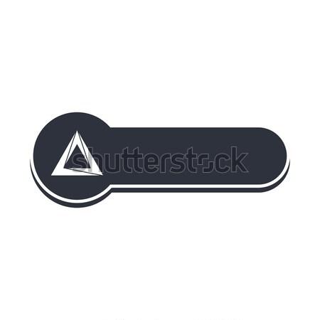 Stok fotoğraf: üçgen · biçim · afiş · şablon · vektör · sanat
