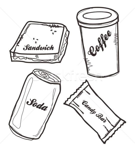 食品 ドリンク 芸術 ベクトル グラフィック デザイン ストックフォト © vector1st