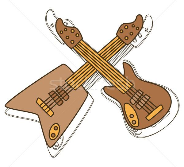 Chitară artă vector grafic proiect ilustrare Imagine de stoc © vector1st