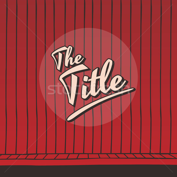 live stage red curtain Stock photo © vector1st
