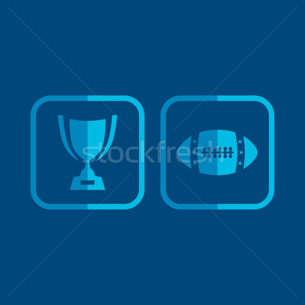 american football icon Stock photo © vector1st