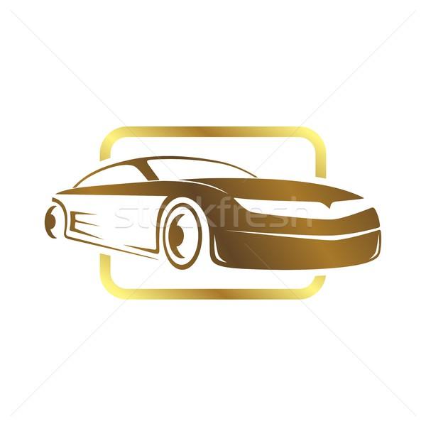 Спортивный автомобиль шаблон вектора искусства иллюстрация автомобилей Сток-фото © vector1st
