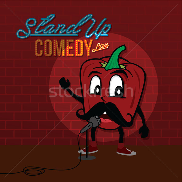 stand up comedy open mic bell pepper Stock photo © vector1st