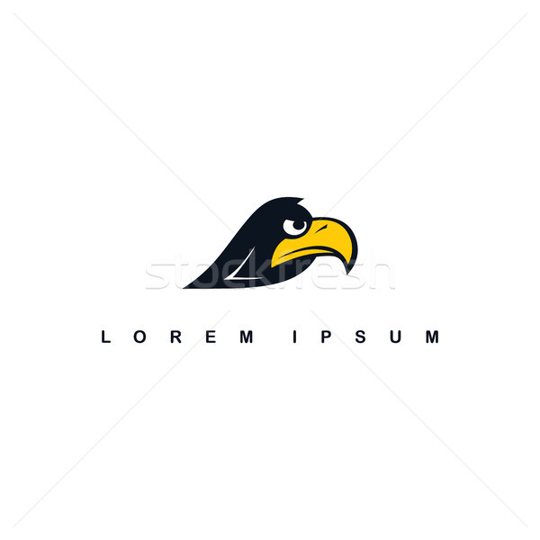 eagle hawk bird logo template Stock photo © vector1st