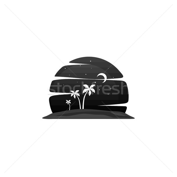 summer holiday beach night view Stock photo © vector1st
