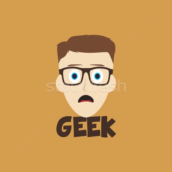 geek guy Stock photo © vector1st
