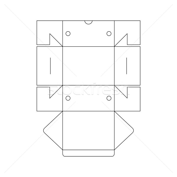packaging box template Stock photo © vector1st