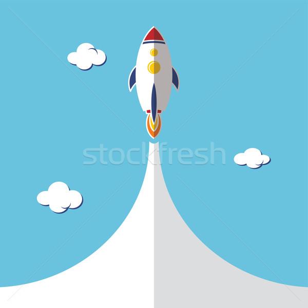 ロケット 船 ベクトル 芸術 実例 ストックフォト © vector1st