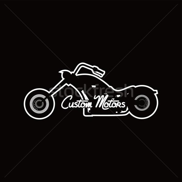 custom motorcycle chopper bike Stock photo © vector1st