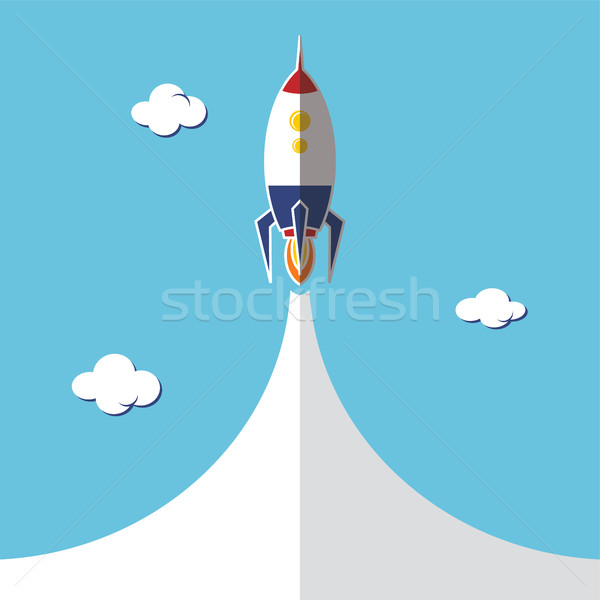 Stock photo: rocket ship launch