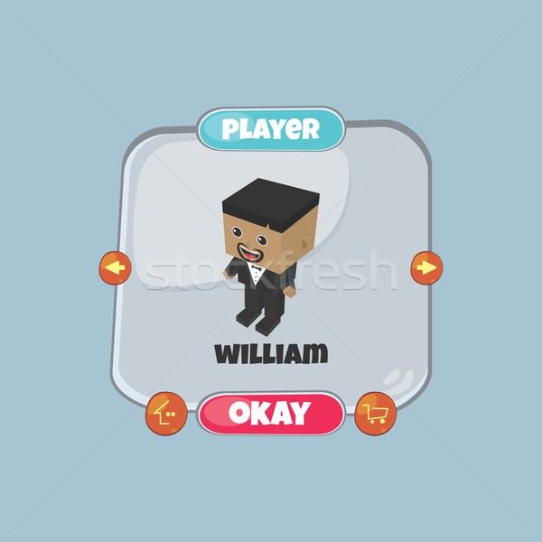 character game assets element Stock photo © vector1st