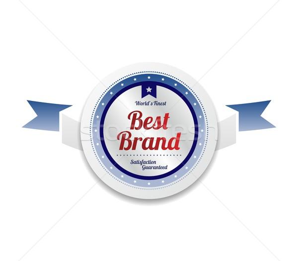 Meilleur marque produit vente qualité étiquette Photo stock © vector1st