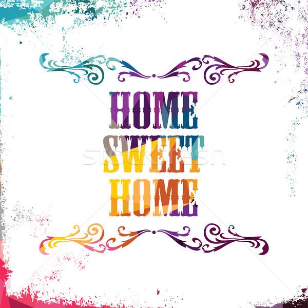 Foto stock: Casa · dulce · resumen · colorido · triángulo · geométrico