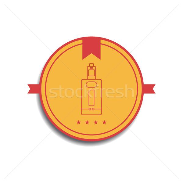 Retro colore badge elettrici sigaretta vettore Foto d'archivio © vector1st